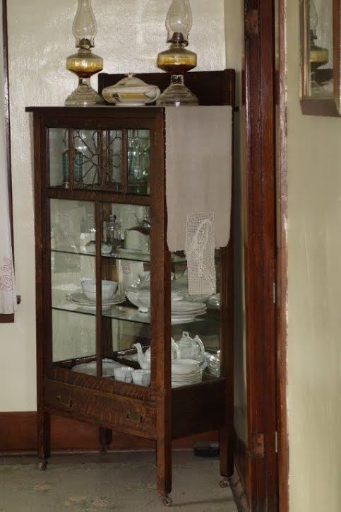 china cabinet at Heritage Park