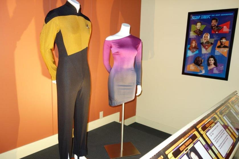 Data and Troy costumes from Star Trek, the Next Generation