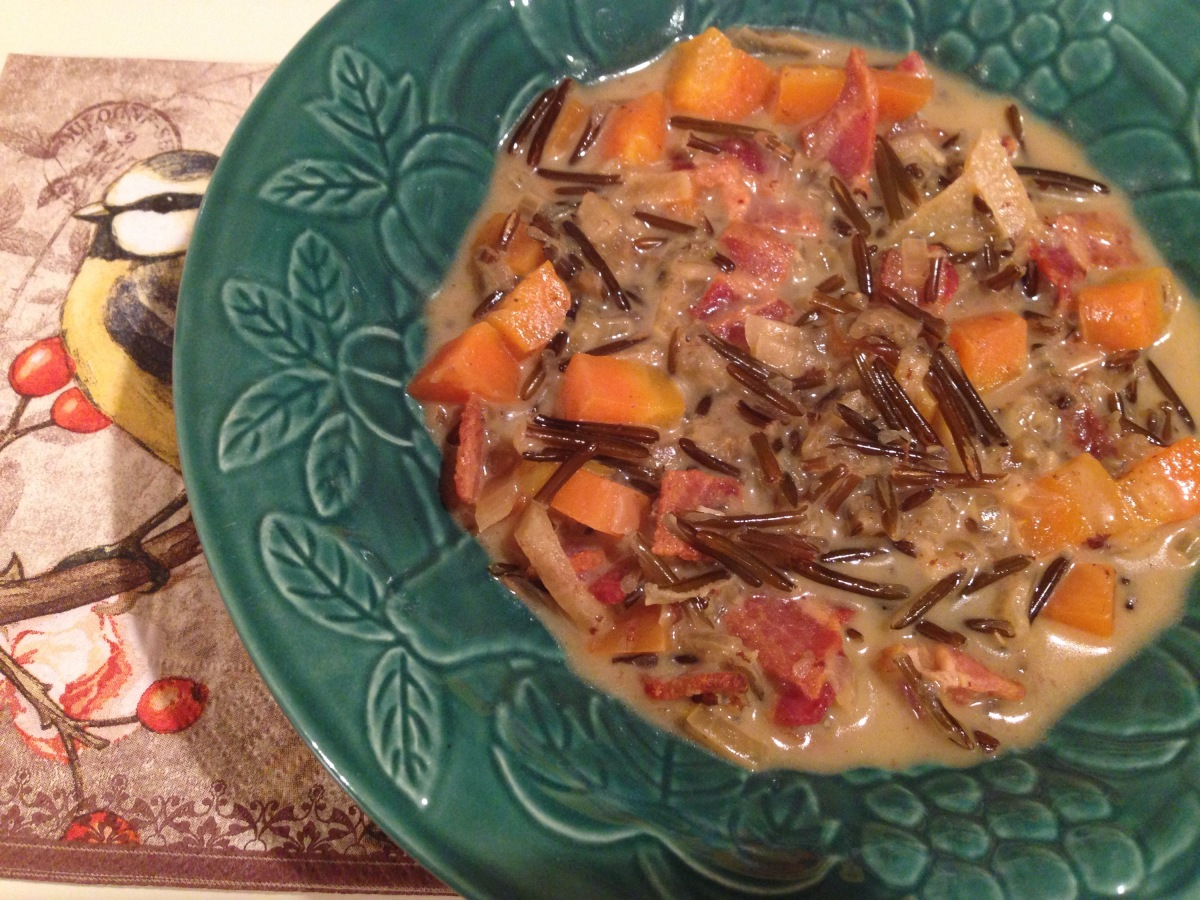 Wild Rice and Bacon Soup