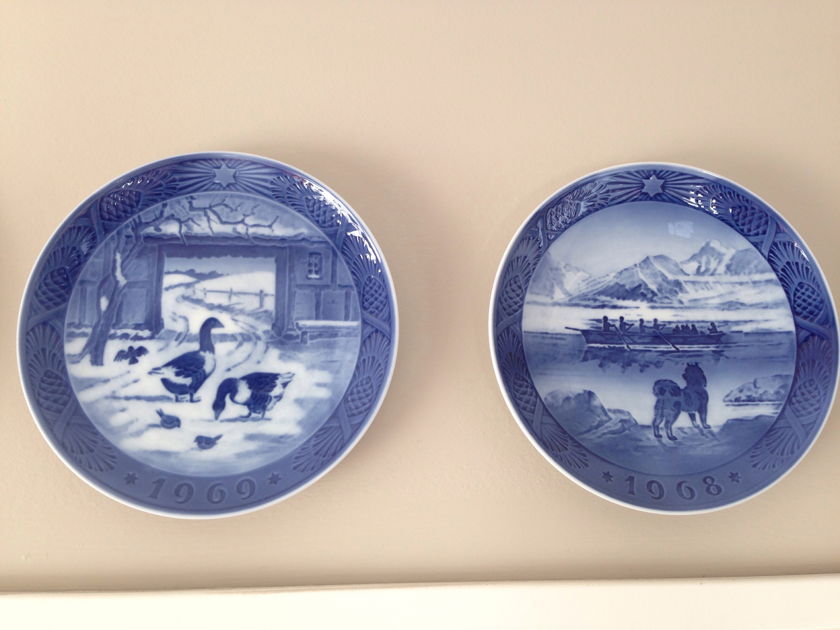 christmas plates like these in the houses of our grandparents they are a little old fashioned but we enjoy the way they look and the nostalgia they - Royal Copenhagen Christmas Plates