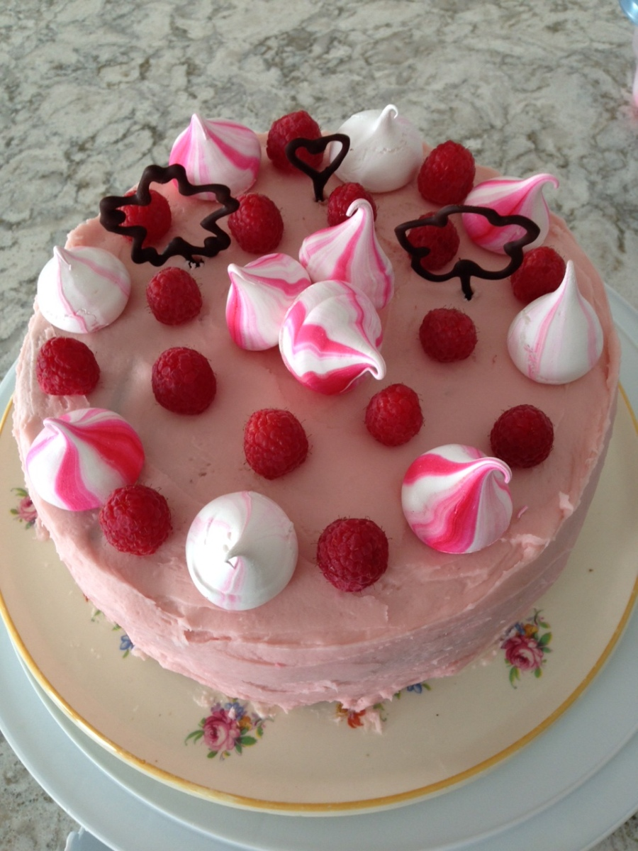 Chocolate Cake with Raspberry Buttercream
