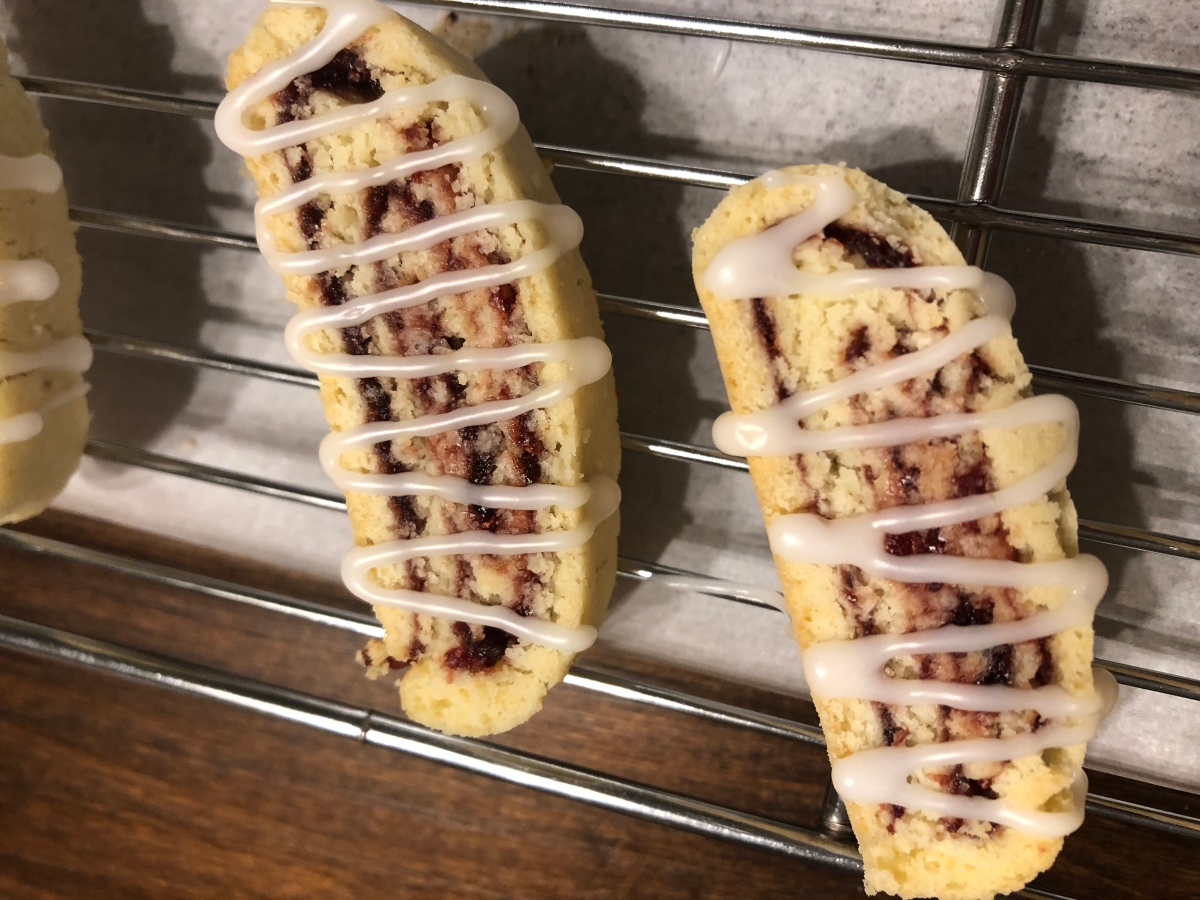 Cranberry/Cherry Swirl Biscotti