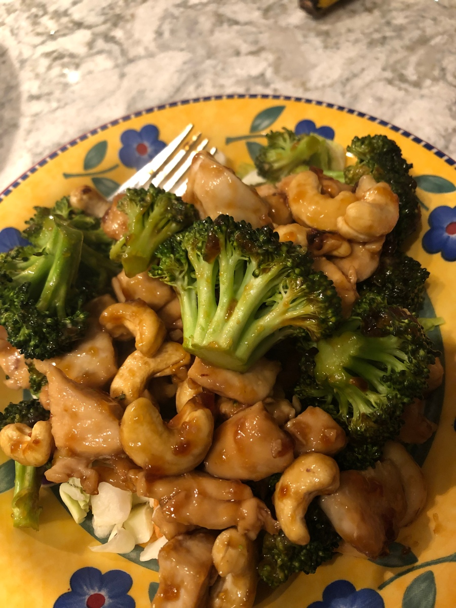Cashew Chicken Broccoli Sheet Pan Meal